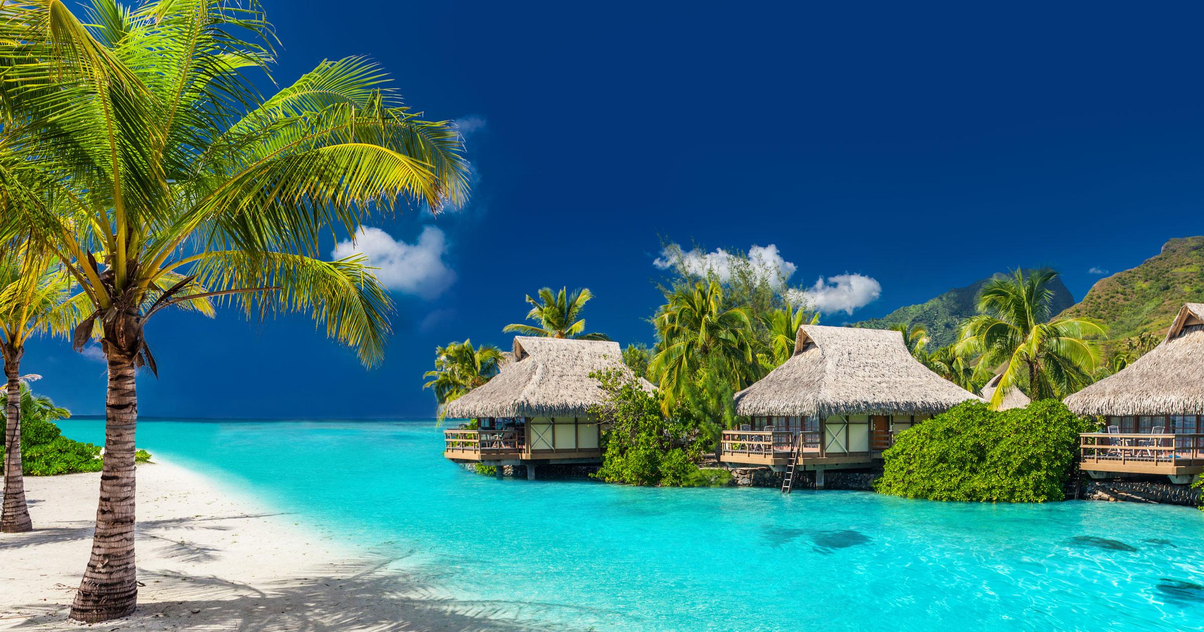 Fiji Huts On Water